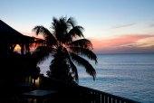 Solnedgång från restaurangen Antigua December 2013
