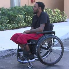 Wheelchair Man Office Chair Uae Miami Heat Donates To Margate After Video Thumbnail For Was Stolen