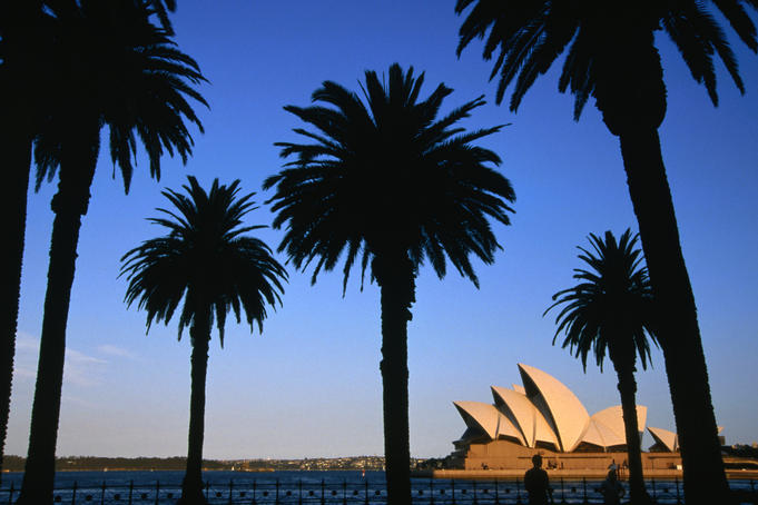 The Sydney Opera House viewed from Dawes Point Park, Sydney, New South Wales
