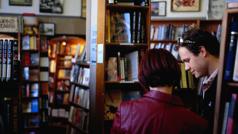 Browsing the City Lights Bookstore in San Francisco.