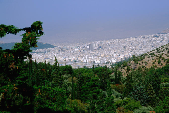Athens viewed from Mt Hymettos.