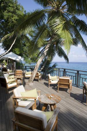 Deckchairs at Ocean View Bar, Northolme Hotel & Spa, Glacis.