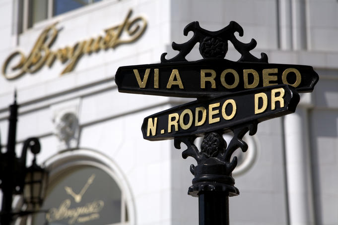 Street sign on Rodeo Drive, Beverly Hills.