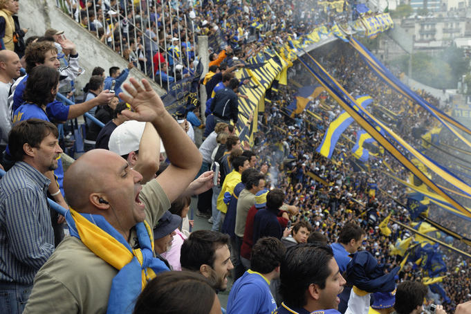 La Bombonera Club Atletico Boca Juniors.