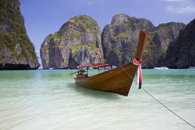 Wooden boat, Maya Bay.