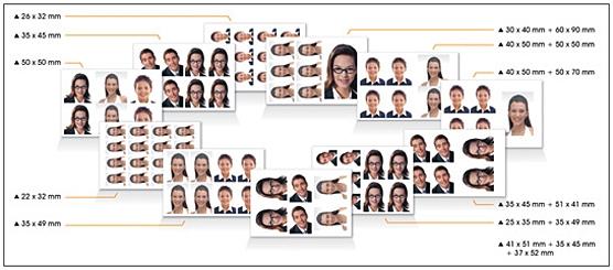 S420 är föreberedd för ID-fotografering i många olika format.
