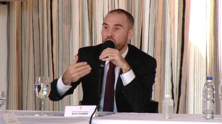 El ministro Guzmán participó del G20 de autoridades financieras.