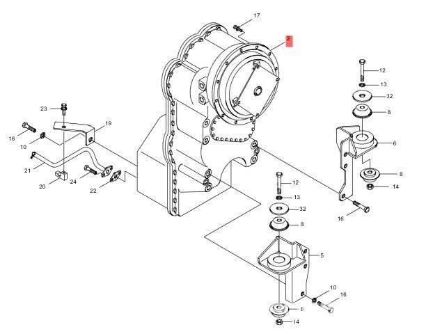 ZF 4WG 190 Powershift Transmission new NL / TUUF-3662-NP
