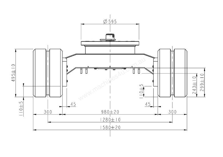 New Digrite NEW SAMPIERANA 4T FIXED EXCAVATOR TRACK