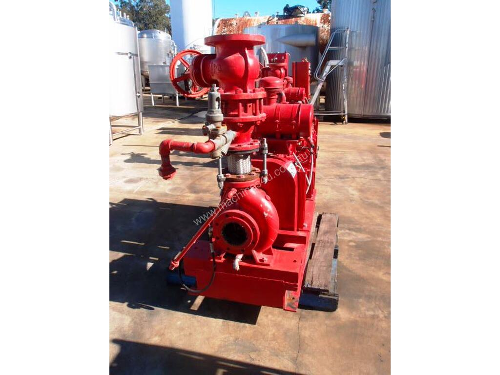 Used ajax Diesel Fire Fighting Centrifugal Pump IN 125mm Dia OUT 100mm Dia Fire Fighting Pumps in SOUTH GRANVILLE. NSW