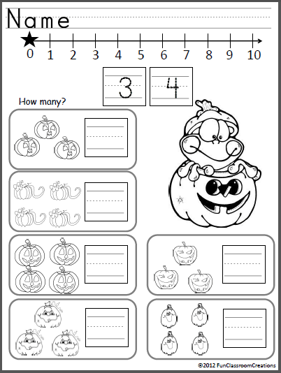 October Math And ELA Unit For Kindergarten (Common Core
