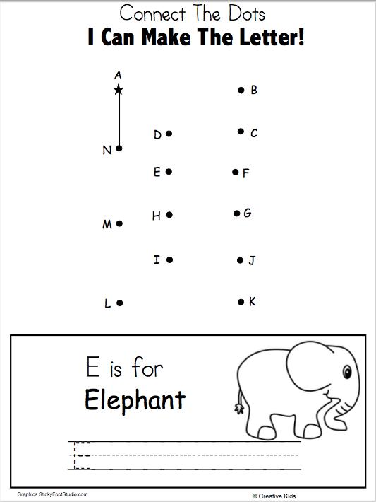 Letter O Writing Worksheet and Dot to Dot (Kindergarten