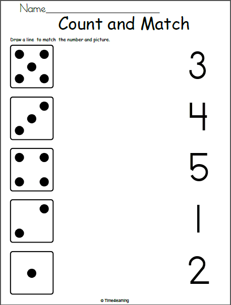 Math Worksheet For Kindergarten