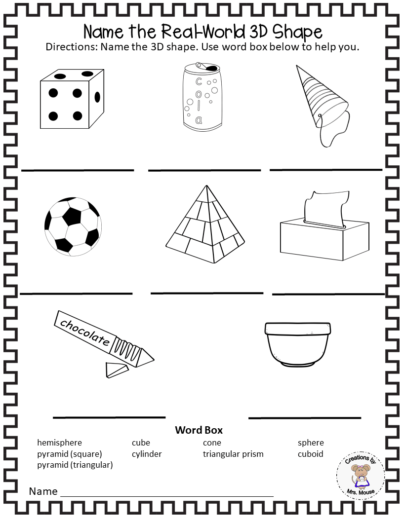hight resolution of Learning about 3 Dimensional (3D) Shapes - Made By Teachers