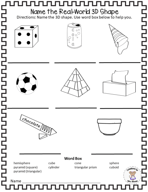 small resolution of Learning about 3 Dimensional (3D) Shapes - Made By Teachers