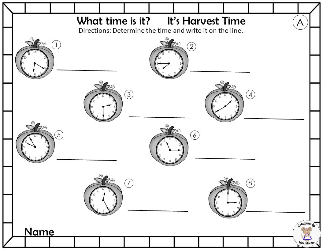 Harvest Time Cards