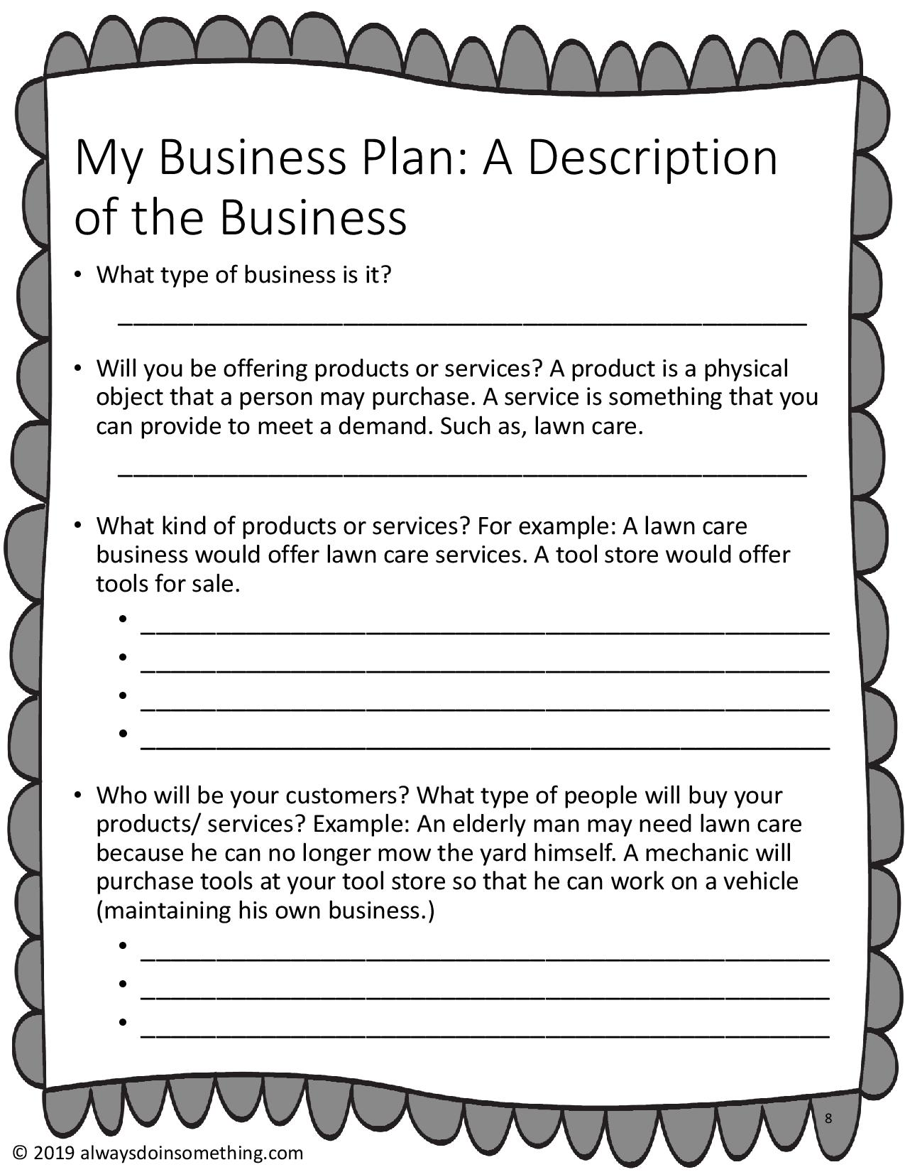 Business Plan For Teens An Outline And Research Guide