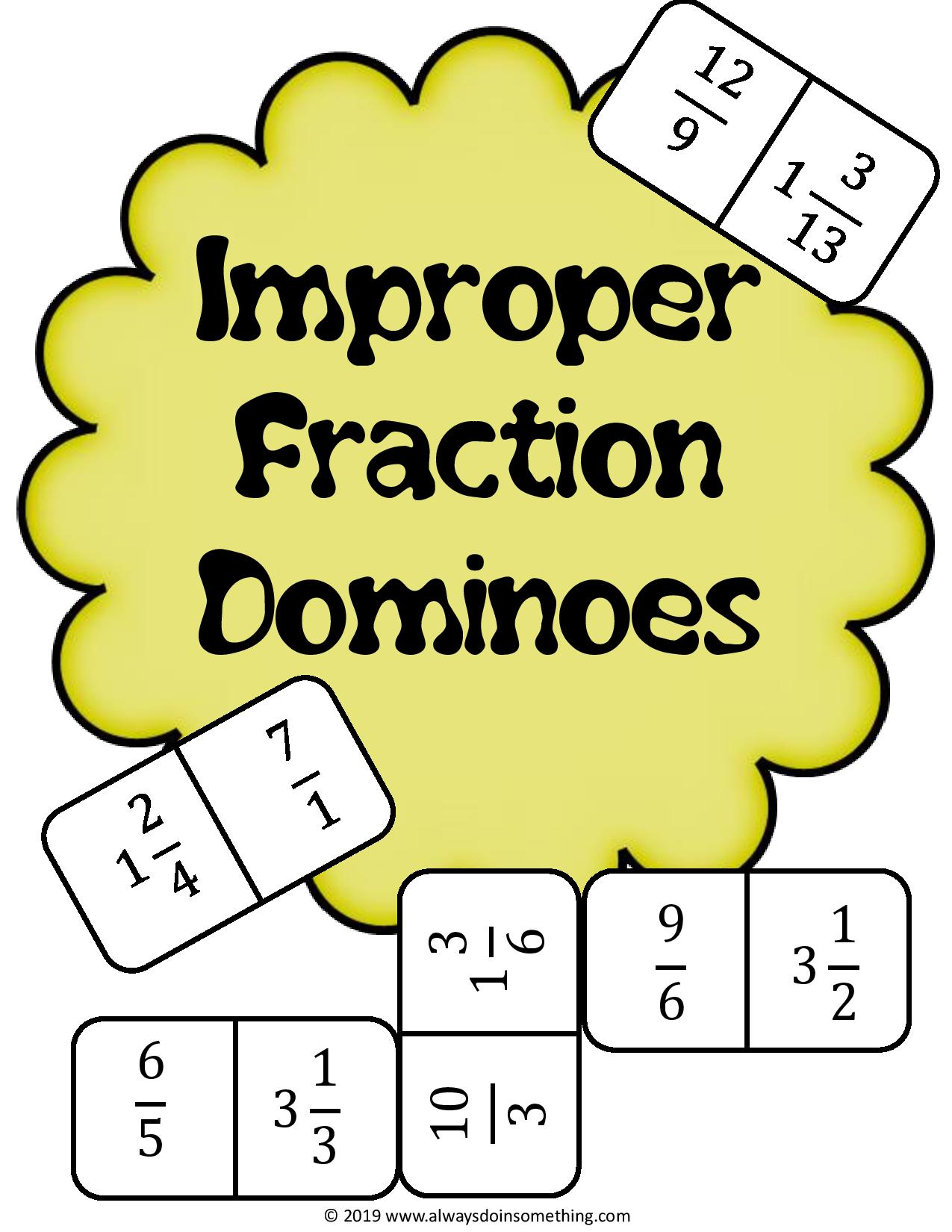 Improper Fraction Dominoes
