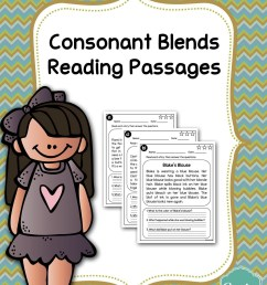 Consonant Blends Reading Comprehension Passages - Made By Teachers [ 3300 x 2550 Pixel ]