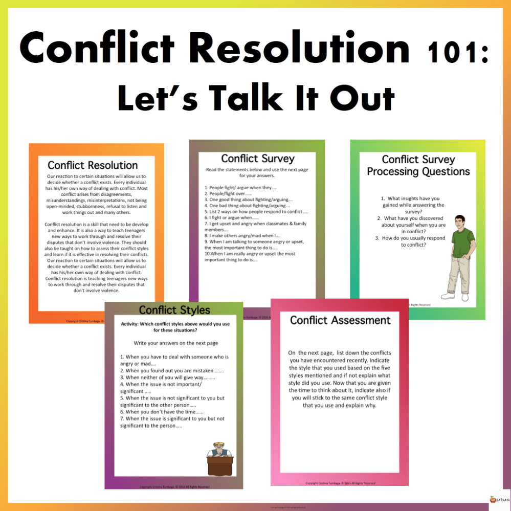 medium resolution of Conflict 101: Let's Talk It Out - Made By Teachers