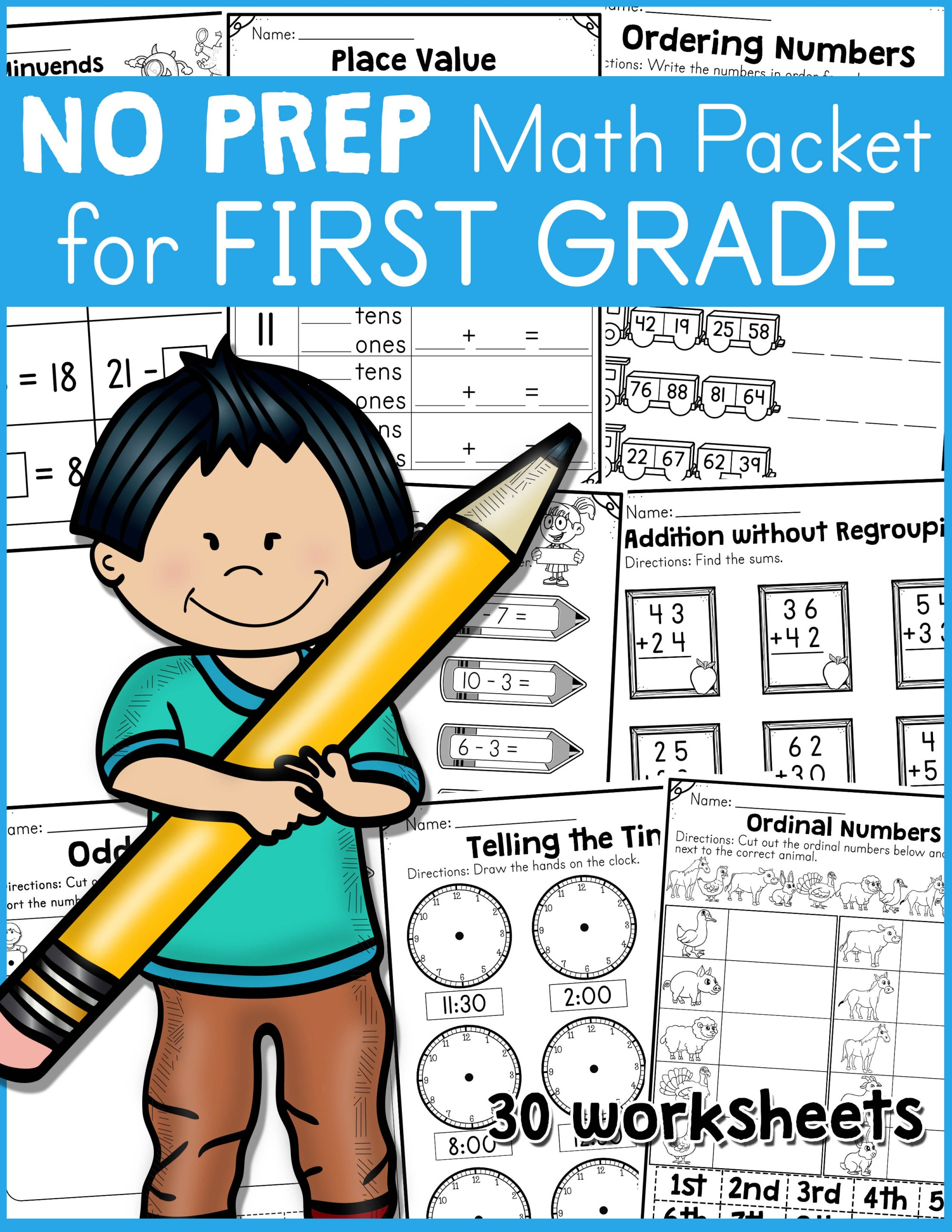 hight resolution of NO PREP Math Packet for First Grade - Made By Teachers
