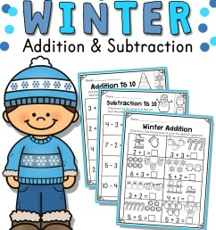 Winter Addition and Subtraction Worksheets (1 to 10) - Made By Teachers [ 1584 x 1224 Pixel ]