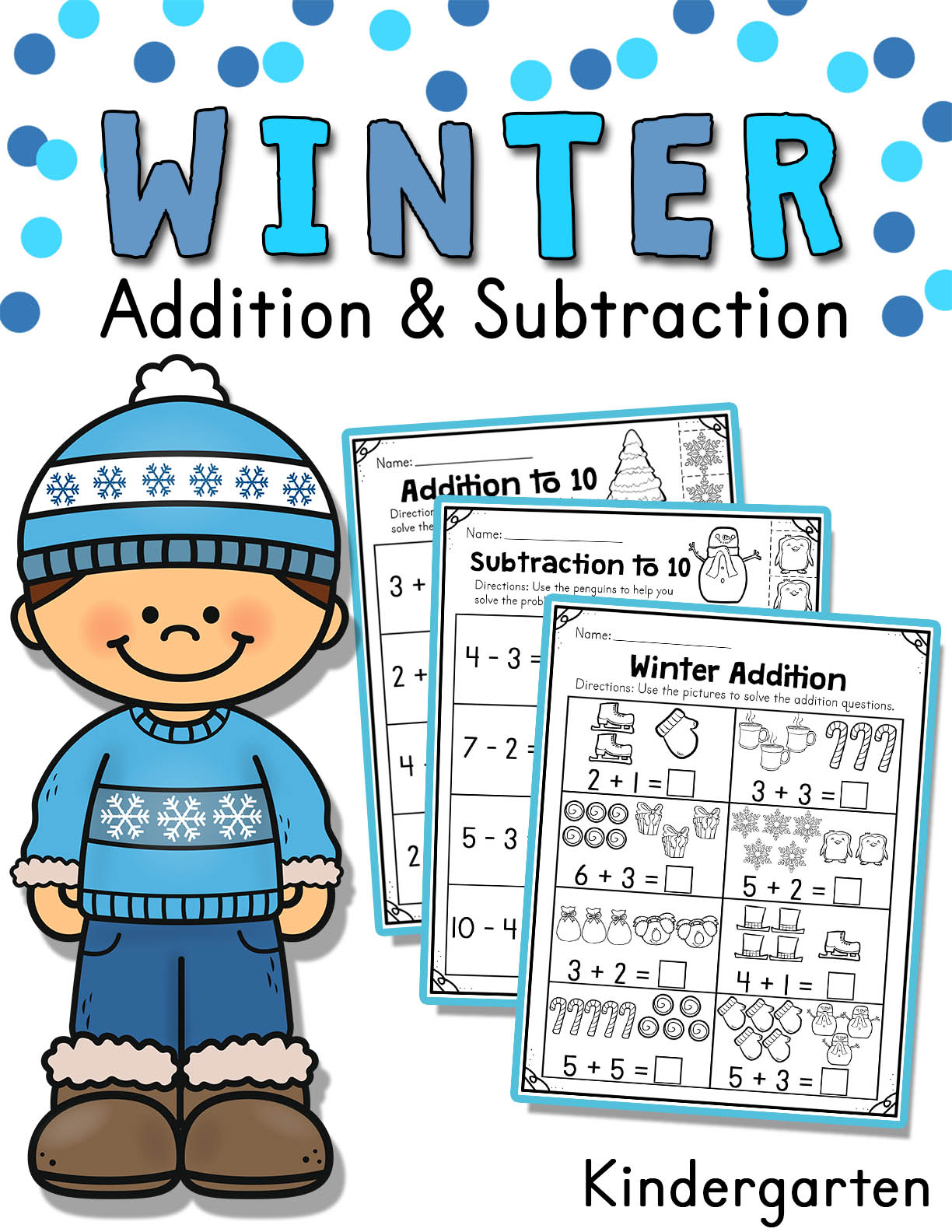 hight resolution of Winter Addition and Subtraction Worksheets (1 to 10) - Made By Teachers