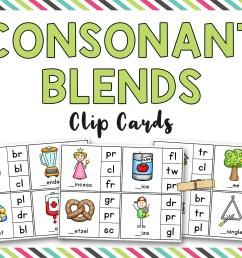 Consonant Blends Clip it Cards (BL [ 1224 x 1584 Pixel ]