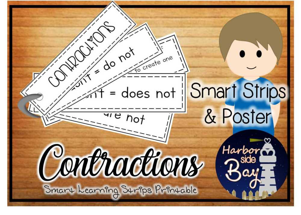 medium resolution of Common Contractions - Made By Teachers