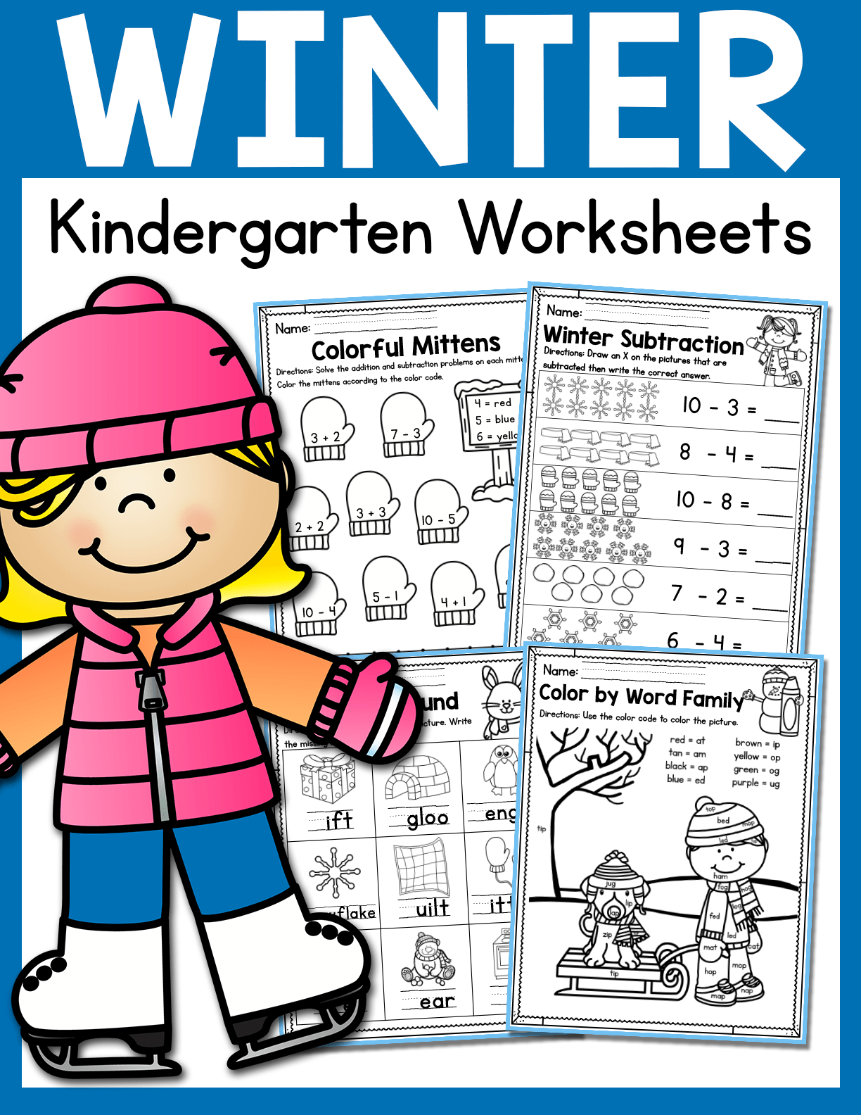 Winter Kindergarten Worksheets January