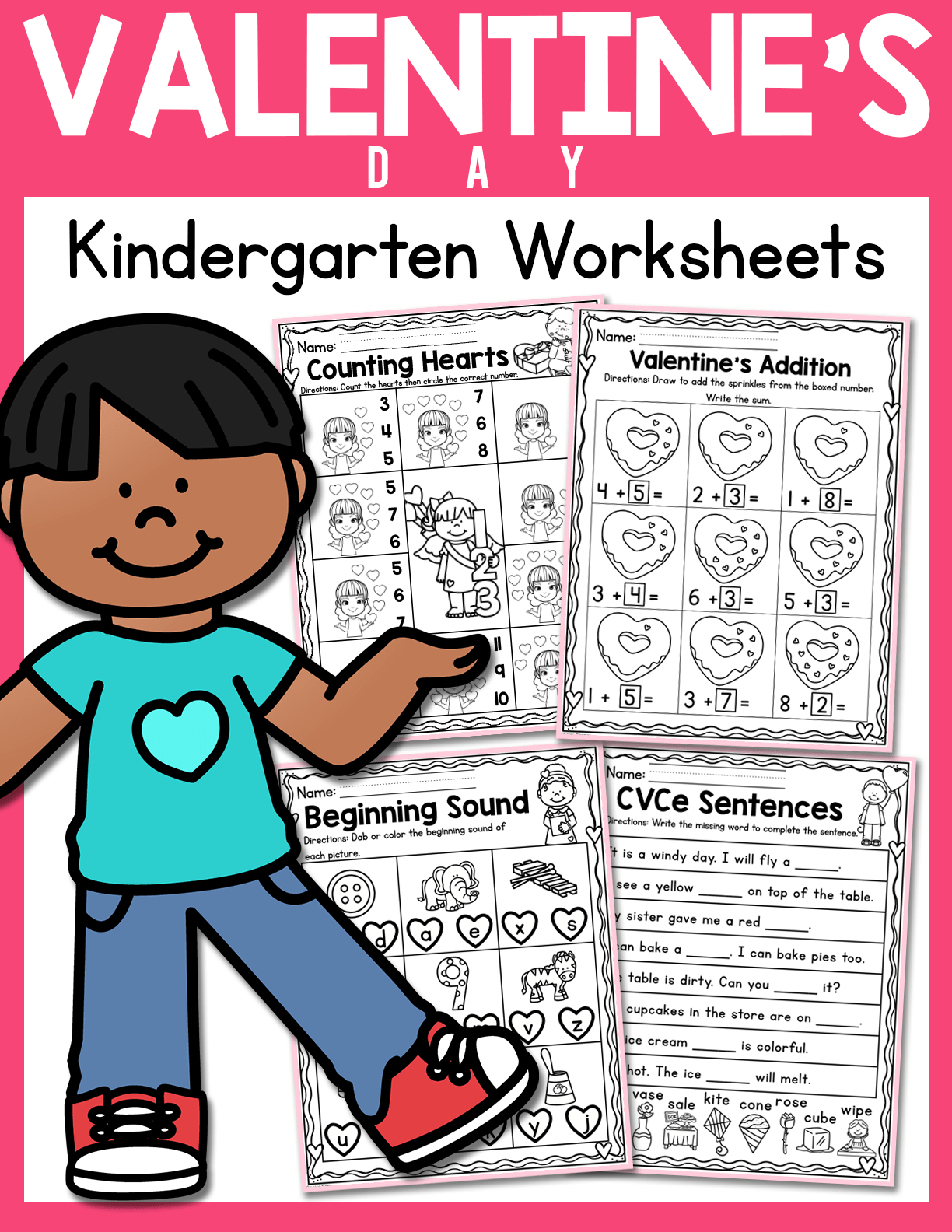 Valentine S Day Kindergarten Worksheets February