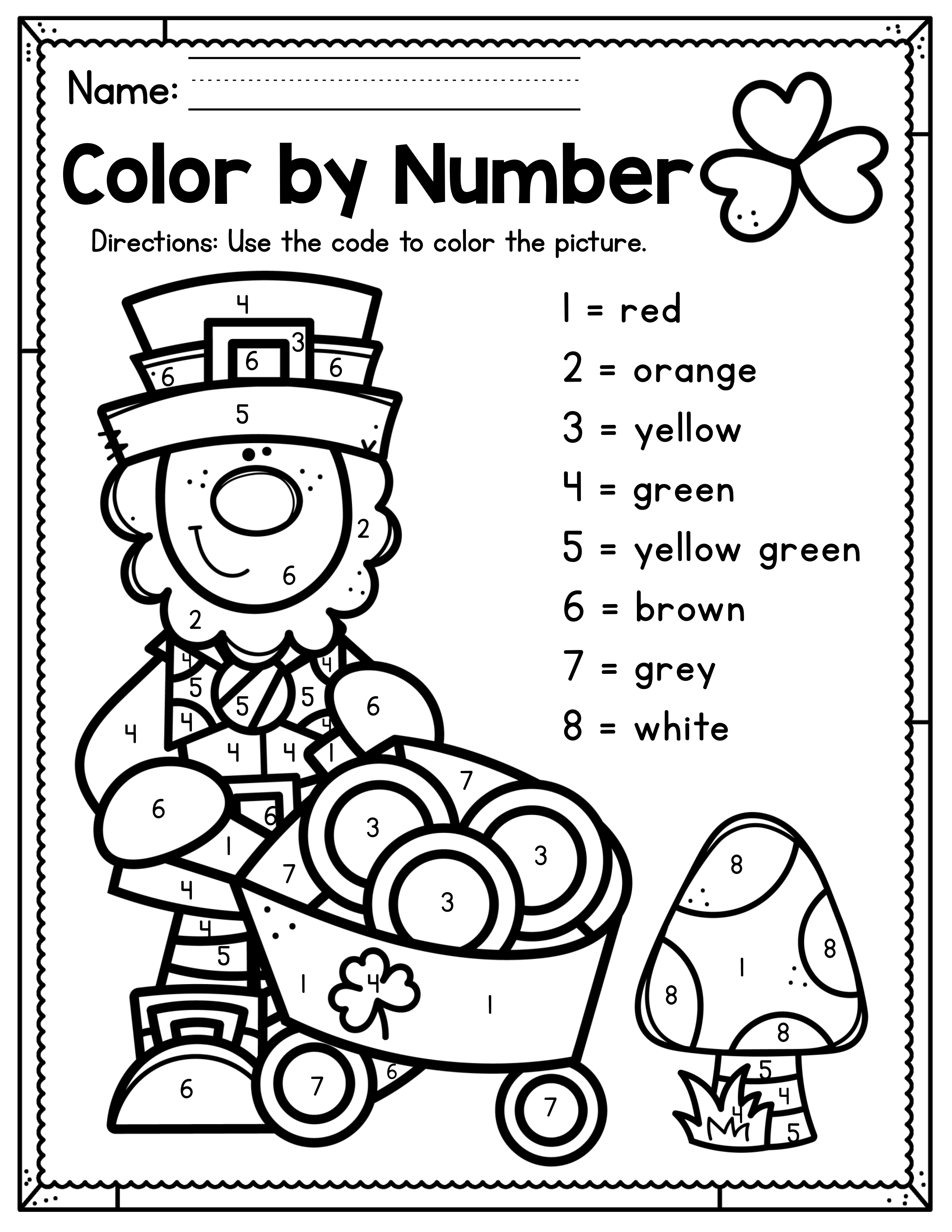St Patrick S Day Preschool Worksheets March