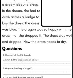 Blend Reading Worksheet - DR [ 1080 x 766 Pixel ]