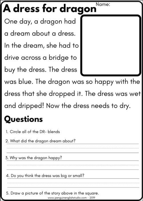 small resolution of Blend Reading Worksheet - DR