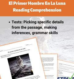 The First Man On The Moon Reading Comprehension Worksheet - Spanish Version  - Made By Teachers [ 1080 x 1080 Pixel ]