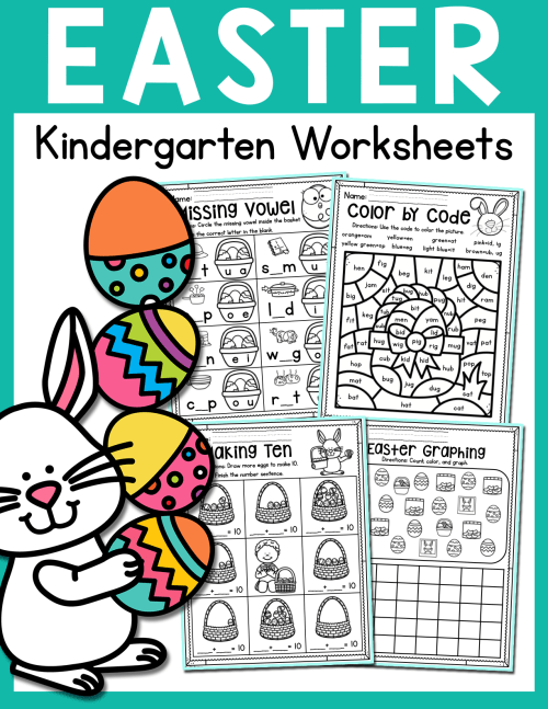 small resolution of Easter Kindergarten Worksheets (April) Distance Learning - Made By Teachers