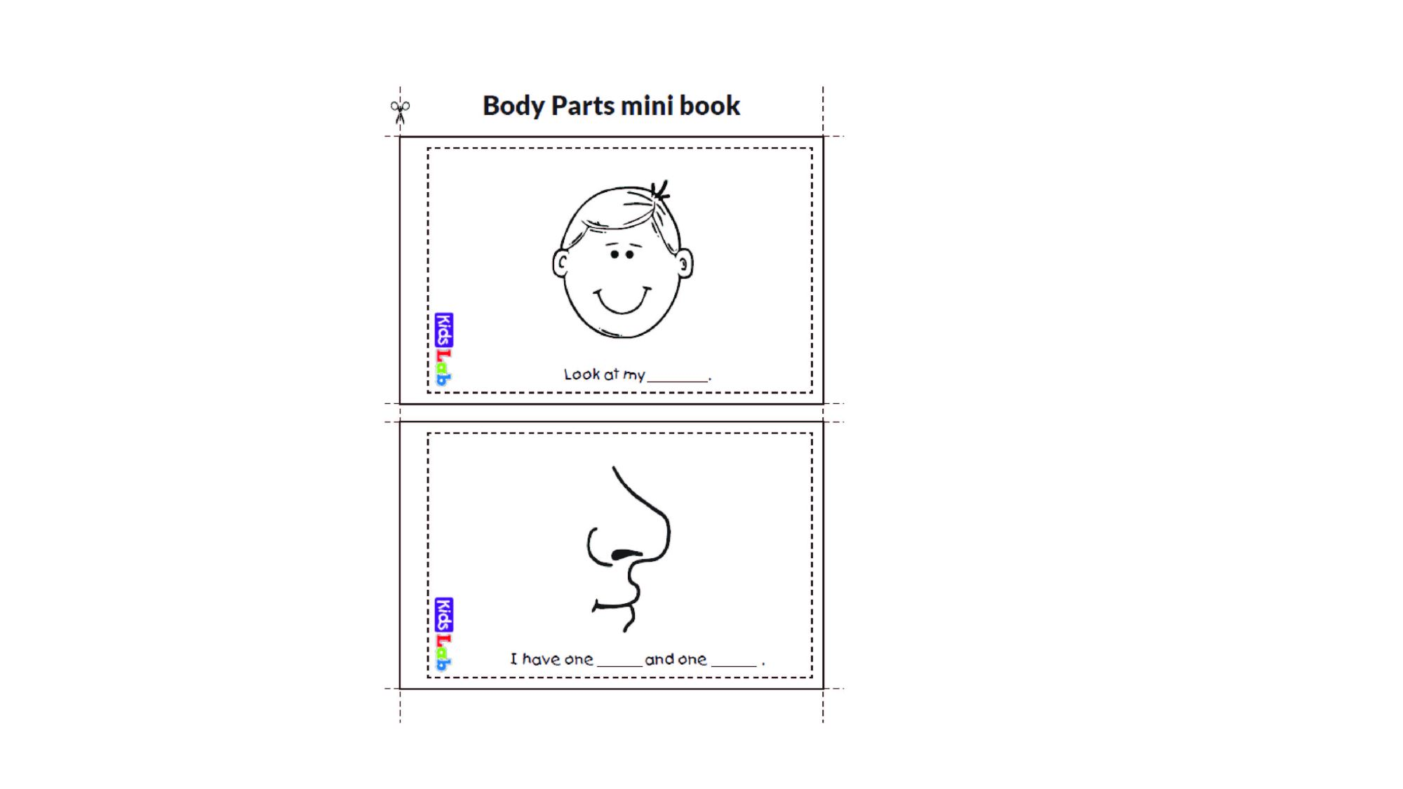 hight resolution of Body Parts - Worksheet Package - Starter Test Cambridge - Vocabulary Practi  - Made By Teachers
