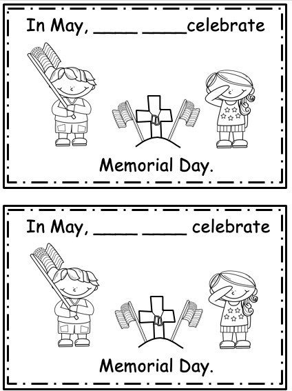 Free Celebrate May Fill-in the blanks Mini-Book