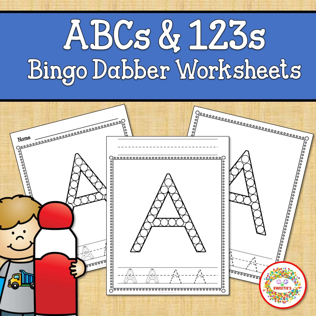 Alphabet And Number Worksheets Bingo Dabber