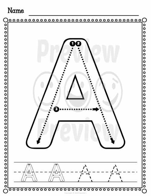 small resolution of Alphabet and Number Worksheets Correct Letter Formation - Made By Teachers