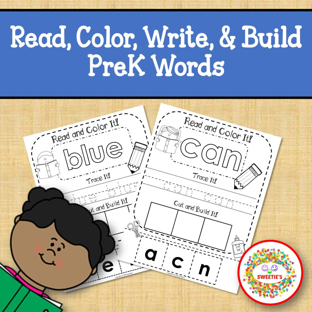 Dolch Pre Kindergarten Read Write Build A Word Worksheet