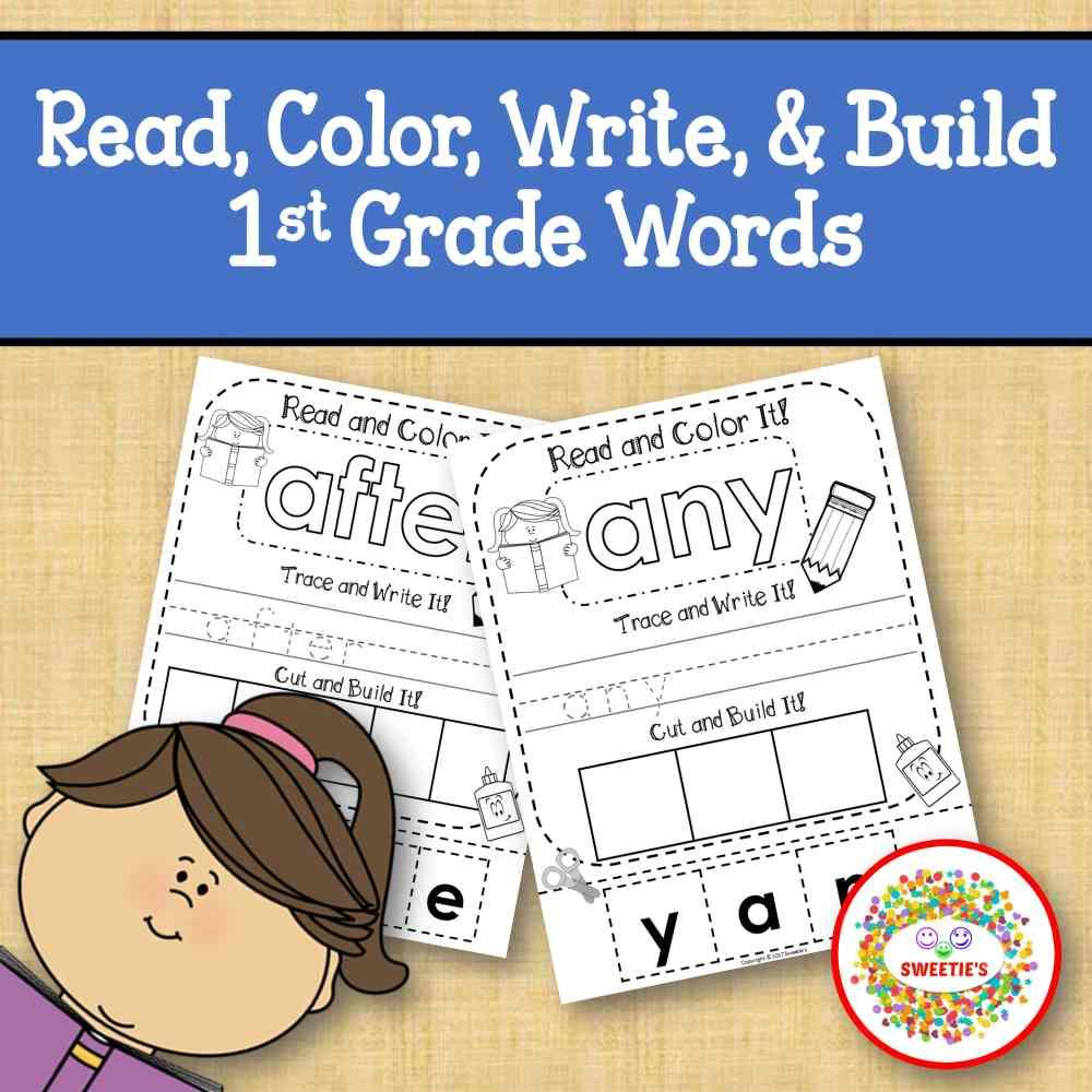 medium resolution of Dolch First Grade Kindergarten Read Write Build a Word Worksheet - Made By  Teachers