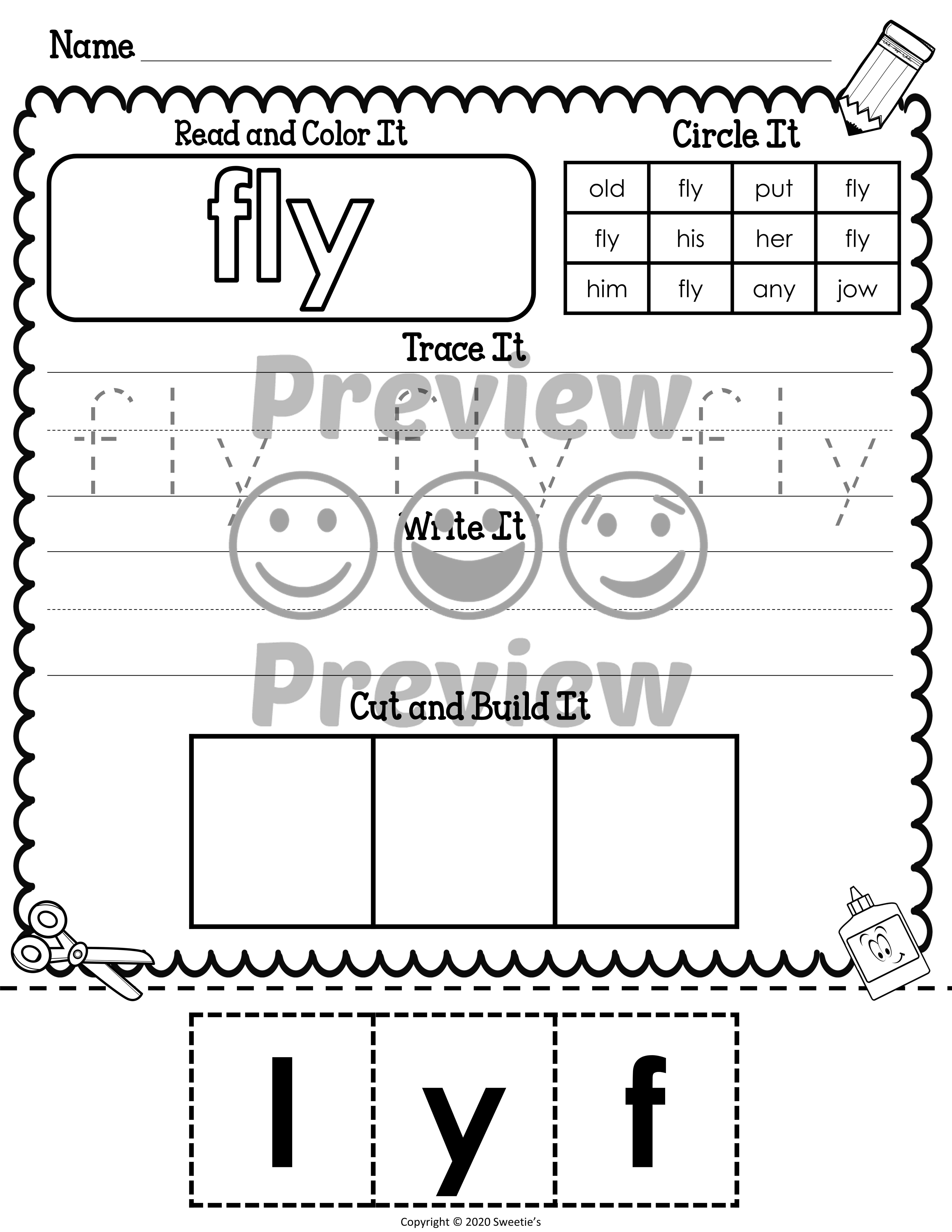 Dolch First Sight Word Worksheets