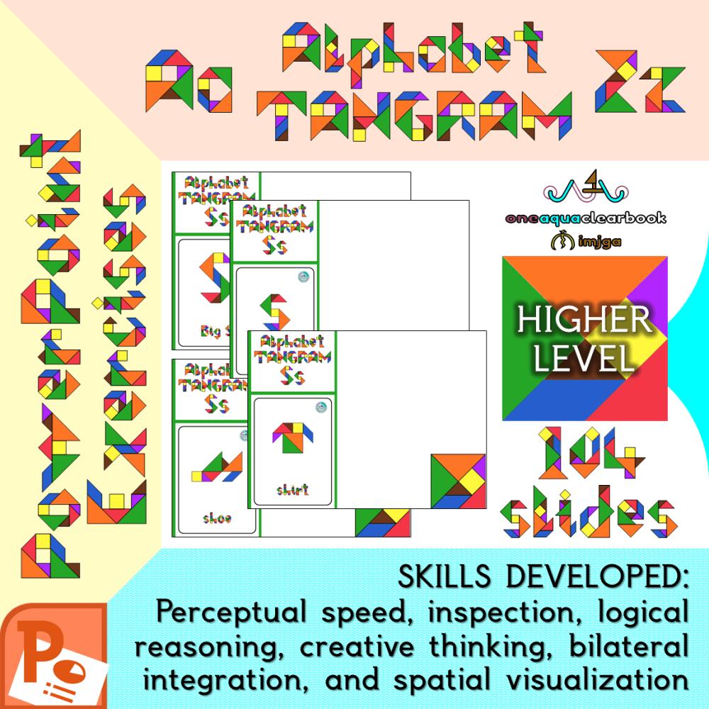 medium resolution of Alphabet Tangram Higher-Level PowerPoint Exercises Aa to Zz - Made By  Teachers