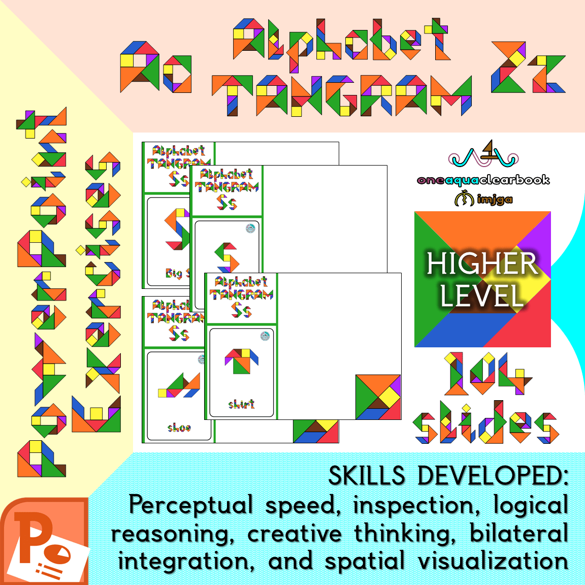 hight resolution of Alphabet Tangram Higher-Level PowerPoint Exercises Aa to Zz - Made By  Teachers