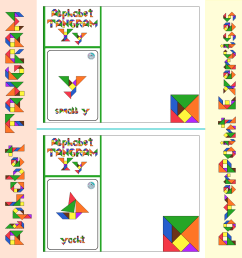 Alphabet Tangram Higher-Level PowerPoint Exercises Aa to Zz - Made By  Teachers [ 1152 x 1152 Pixel ]