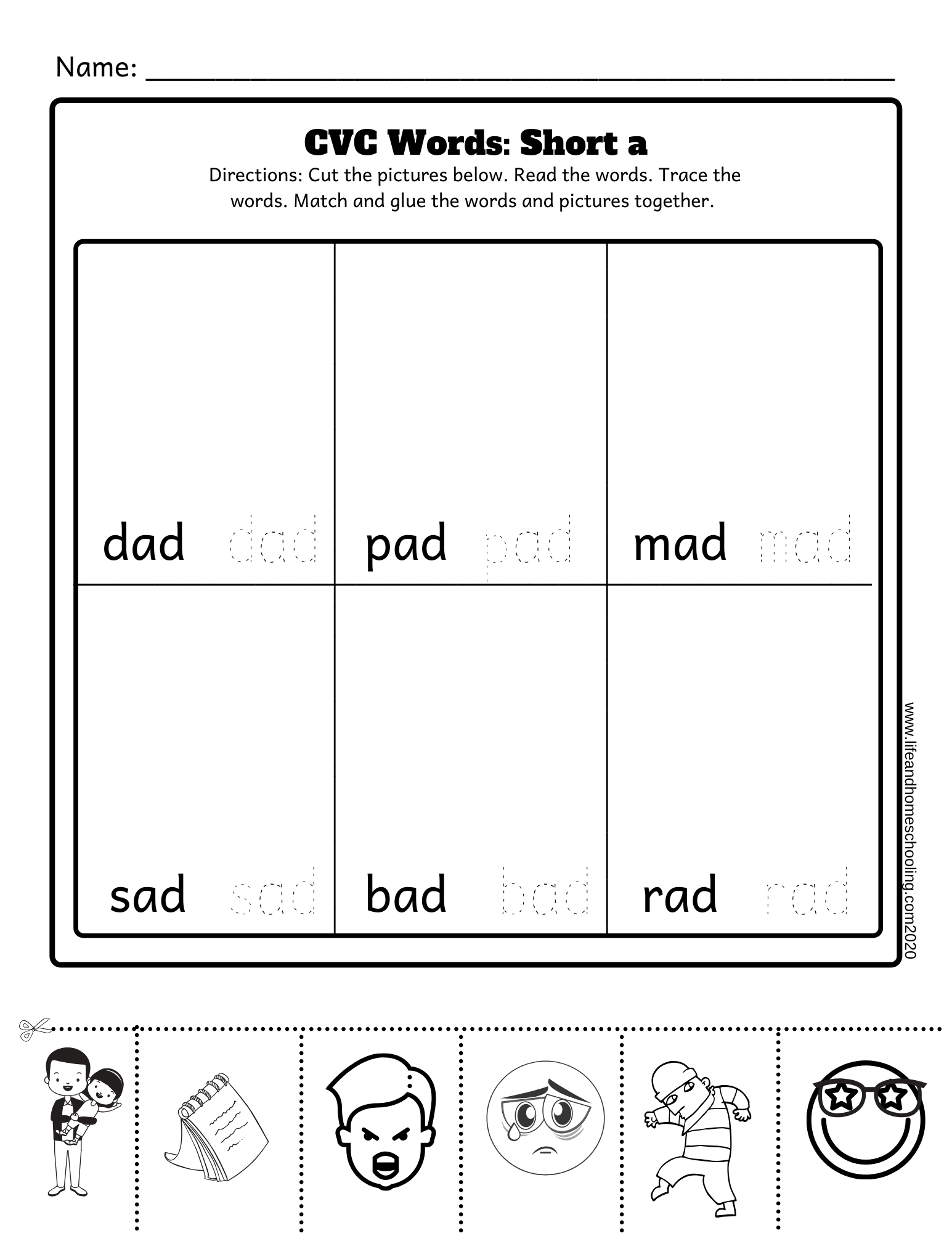 Cvc Words Activity Worksheets Short A E I O U