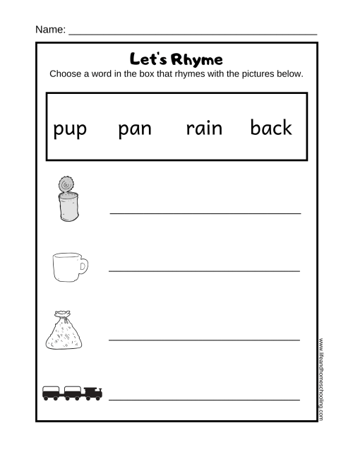 small resolution of Preschool Rhyming Worksheets - Made By Teachers