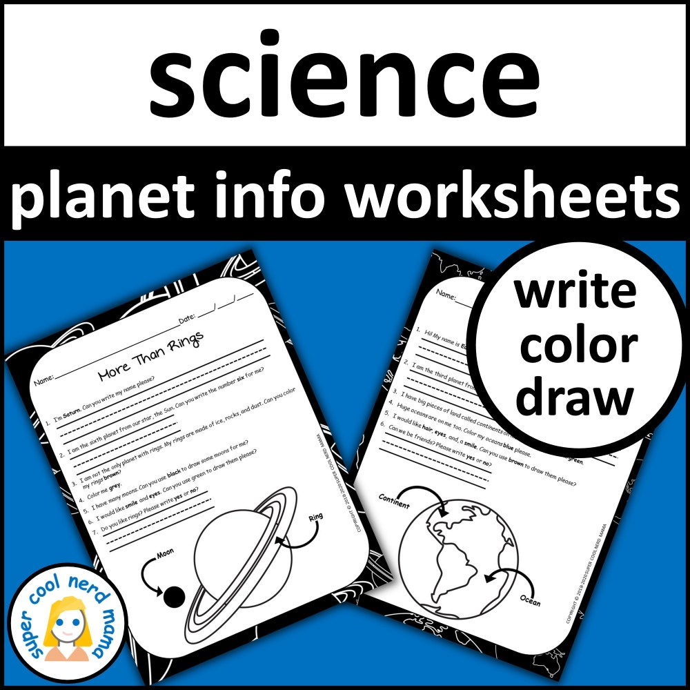 medium resolution of Planets Worksheets Drawing and Writing - Made By Teachers
