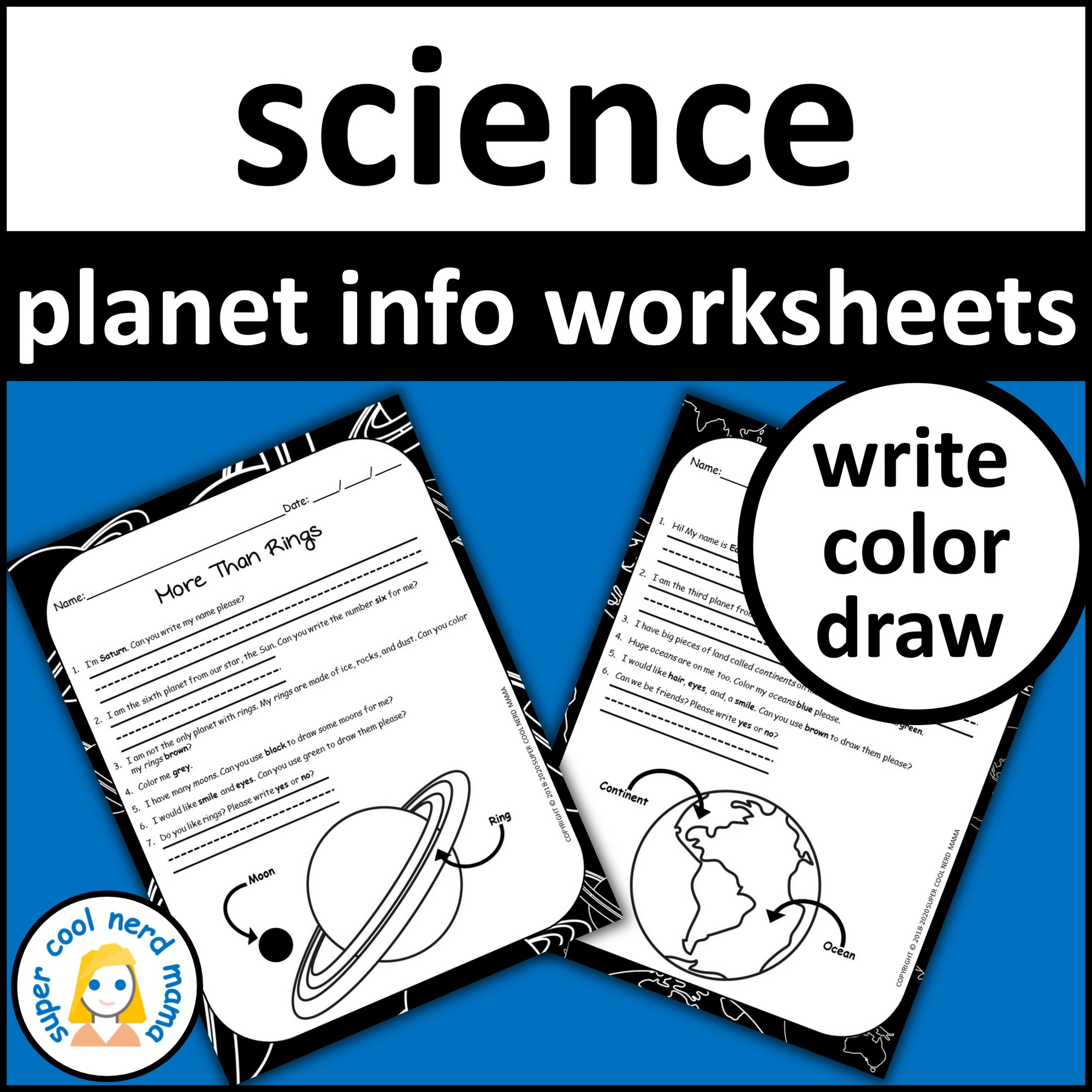 hight resolution of Planets Worksheets Drawing and Writing - Made By Teachers